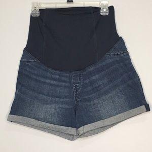 NWOT Isabel Target Maternity MIDI Denim Shorts 10